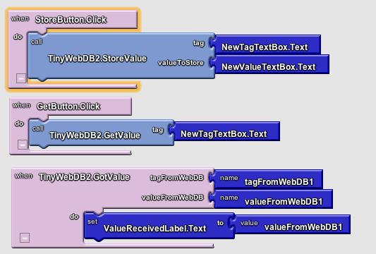 Create a Web Database   App Inventor API